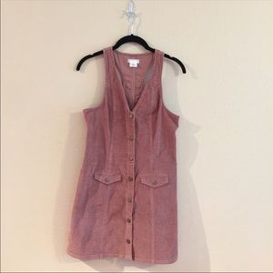 Urban Outfitters Pink corduroy dress sz S